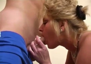 Long haired son and a crazy horny mommy