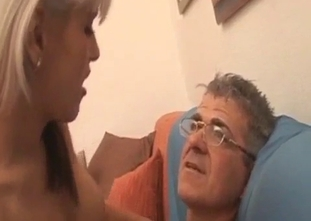 Rich daddy and lusty daughter have amazing sex
