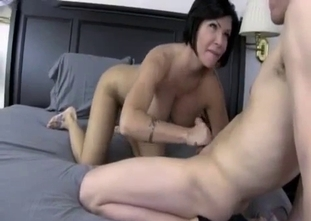 Glamour mother sucks son dick in the morning