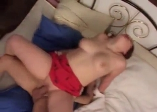 Hardcore anal incest with a big boobed brunette