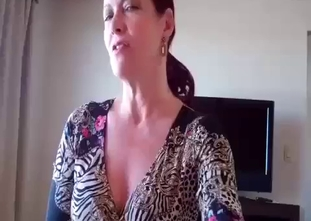 Sexy mature mom jerks and sucks son dick